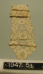 Cravat or barbe machine made silk lace