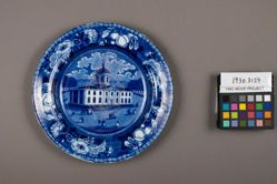 Plate with a view of Baltimore Court House