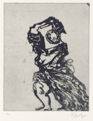 Zeno at 4 am (telephone lady) 2001, from suite of 9 etchings