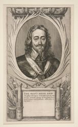 Charles I and the Camps of his Army in the Scottish War (cut version: portrait only)