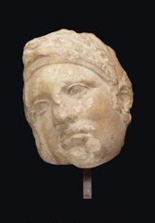 Marble head of a woman, from a grave relief