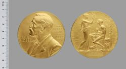 Gold Nobel Prize Medal for Literature presented to Eugene O'Neill
