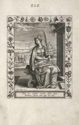 Saint Theodosia, 1 of 25 plates from the series Martyrologium Sanctarum Virginum (Female Martyr Saints)