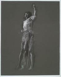 Study for figure in The Spirit of Vulcan, Genius of the Workers in Iron and Steel, capitol rotunda, Harrisburg, Pennsylvania
