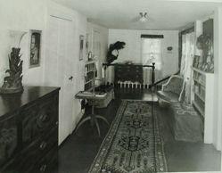 "Interior view of Katherine S. Dreier's West Redding home, ""The Haven"" -- upstairs hallway"