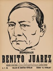 Homenaje a Benito Juárez, forjador de la nación (Tribute to Benito Juárez, Founder of the Nation)