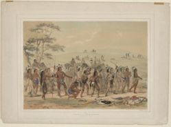 Archery of the Mandans, pl. 24 from the North American Indian Portfolio