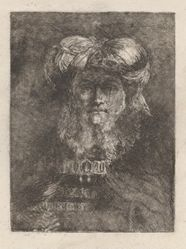 Old Man in the Manner of Rembrandt, from the Raccolta di Teste (Collection of Heads)