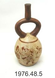 Stirrup Vessel with Battle Scene