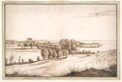 Panorama with a Country House before an Inland Sea