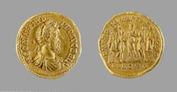 Aureus of Commodus, Emperor of Rome, from Rome