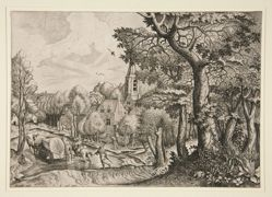 "Pagus Nemorosus, ""Wooded Region"", from The Set of the Large Landscapes"