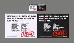 These Galleries Show No More Than 10% Women Artists or None at All, Recount, from the Guerrilla Girls' Portfolio Compleat 2012–2016 Upgrade