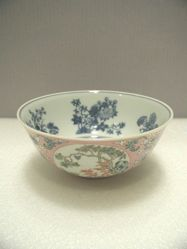 Bowl with Flowers and Trees