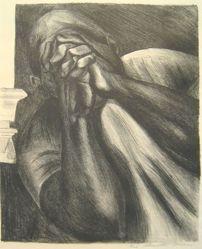 Hombre con manos sobre la cara (Man with Hands in front of His Face)