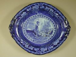Vegetable dish and cover with Arms of Virginia