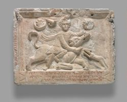 Cult Relief of Mithras Slaying the Bull (Tauroctony)