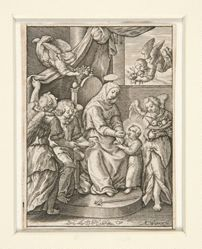 The Virgin feeding the Child, assisted by Angels