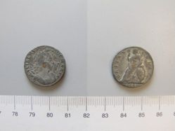 Tin farthing of William and Mary