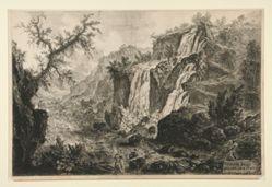 Veduta delle Cascatelle a Tivoli (View of the Small Waterfalls at Tivoli), from Vedute di Roma