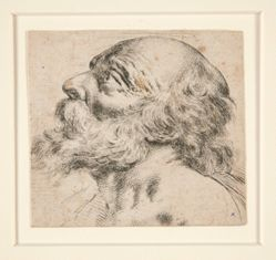 Untitled (bearded man, looking up to right)
