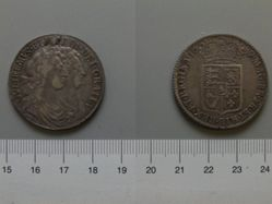 Halfcrown of King William Of Orange; Queen Mary Stuart from England