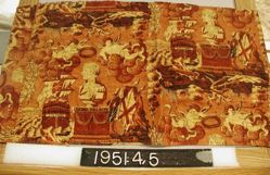 "Length of glazed chintz, ""Lord Nelson"""
