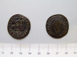 2 Meravedis of Ferdinand V, King of Spain; Isabella I, Queen of Spain from Burgos