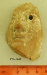 Fragment of hollow-mould-made head (probably female)