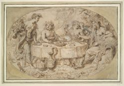 Banquet of Ceres, Bacchus, Venus, and Neptune
