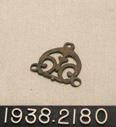 Pierced Bronze Bridle Piece and Large Diamond Shaped Pendant