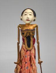 Rod Puppet (Wayang Golek) of a Dancer (Gambyong)