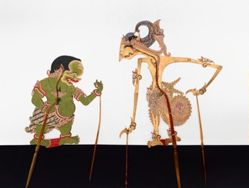Shadow Puppet (Wayang Kulit) of Pathi Suwondo or Sumantri, from the consecrated set Kyai Nugroho