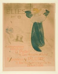 "Poster of Frontispiece for ""Elles"""