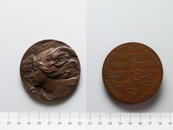 "Bronze Medal from Belgium Commemorating First Production of the French Version of ""Ring of the Nibelung"""