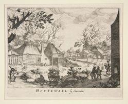 View of Houtewael near Amsterdam