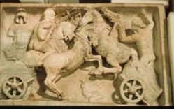 Relief depicting the combat of two chariots