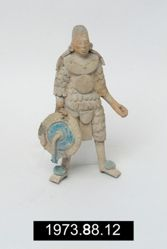 Standing Male Figure Holding a Shield