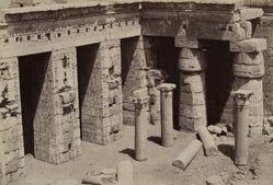 Medinet Habu: Coptic Church in center of Ramses III Temple