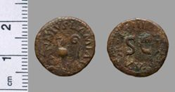 Copper quadrans of Augustus