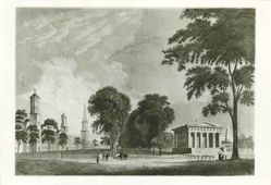 Yale College and State House, New Haven, Conn, 1832