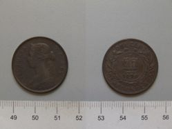 """Large Cent- Queen Victoria"" from Newfoundland"