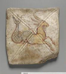 Tile with Capricorn