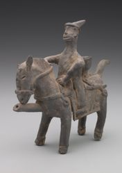 Vessel in the Shape of a Rider on Horseback
