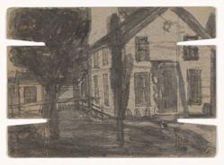 Untitled (verso: house; recto: farmscape)