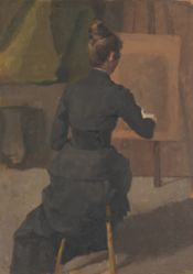 Woman Seated at an Easel