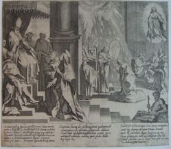Plate 4, from the series, Life and Miracles of Saint Catherine of Siena