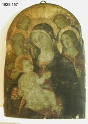 Virgin and Child with two Saints and Angels