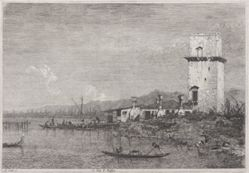 La Torre di Malghera (The Tower of Malghera), from the series Vedute (Views)