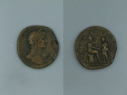 Sestertius of Hadrian, Emperor of Rome from Rome